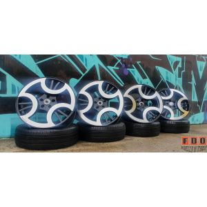 """4X20"""" BBOSS AMASSO TRINIDY STAGGERED WHEELS 5/112 EURO FITMENT"""