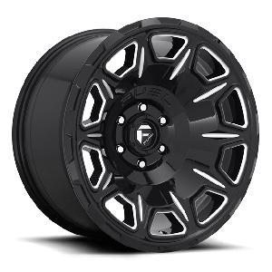 Fuel vengeance 20x9 6x139.7 gloss black milled accents
