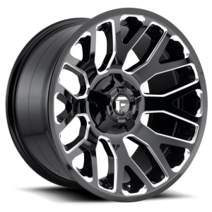 Fuel warrior 20x9 8x180 gloss black milled accents