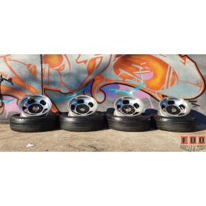 """4X14"""" JELLY BEAN WHEELS 5/114.3 FITMENT FORD AND OLD SCHOOL HOT RODS"""